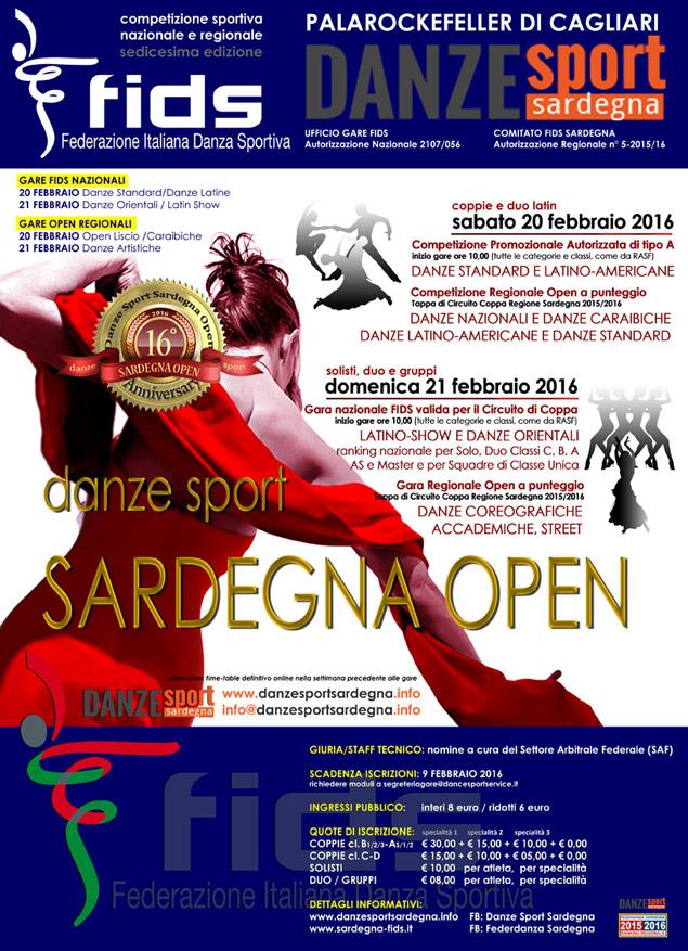 Calendario Fids.Sardegna Open Gare Nazionali E Regionali A Cagliari Danze